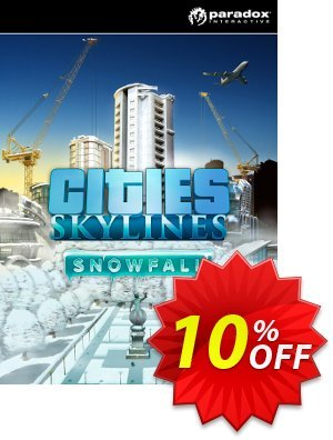 Cities: Skylines Snowfall PC 프로모션 코드 Cities: Skylines Snowfall PC Deal 프로모션: Cities: Skylines Snowfall PC Exclusive offer for iVoicesoft