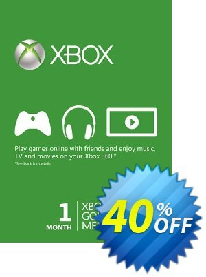 1 Month Xbox Live Gold Membership (Xbox One/360) Coupon, discount 1 Month Xbox Live Gold Membership (Xbox One/360) Deal. Promotion: 1 Month Xbox Live Gold Membership (Xbox One/360) Exclusive offer for iVoicesoft