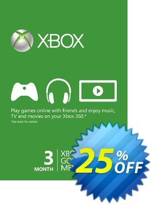3 Month Xbox Live Gold Membership Card (Xbox One/360) discount coupon 3 Month Xbox Live Gold Membership Card (Xbox One/360) Deal - 3 Month Xbox Live Gold Membership Card (Xbox One/360) Exclusive offer for iVoicesoft