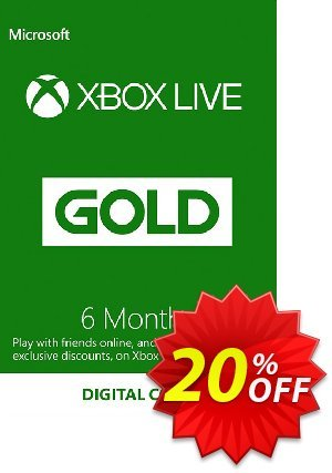 6 Month Xbox Live Gold Membership (EU) discount coupon 6 Month Xbox Live Gold Membership (EU) Deal - 6 Month Xbox Live Gold Membership (EU) Exclusive offer for iVoicesoft
