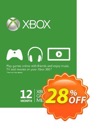12 Month Xbox Live Gold Membership (Xbox One/360) discount coupon 12 Month Xbox Live Gold Membership (Xbox One/360) Deal - 12 Month Xbox Live Gold Membership (Xbox One/360) Exclusive offer for iVoicesoft