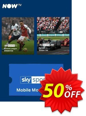 NOW TV - Sky Sports Mobile Month Pass discount coupon NOW TV - Sky Sports Mobile Month Pass Deal - NOW TV - Sky Sports Mobile Month Pass Exclusive offer for iVoicesoft