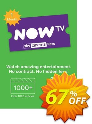 NOW TV - 1 Month Movie Pass discount coupon NOW TV - 1 Month Movie Pass Deal - NOW TV - 1 Month Movie Pass Exclusive offer for iVoicesoft