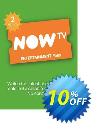 NOW TV - Entertainment 2 Month Pass discount coupon NOW TV - Entertainment 2 Month Pass Deal - NOW TV - Entertainment 2 Month Pass Exclusive offer for iVoicesoft