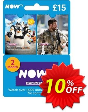 NOW TV - Movies 2 Month Pass discount coupon NOW TV - Movies 2 Month Pass Deal - NOW TV - Movies 2 Month Pass Exclusive offer for iVoicesoft