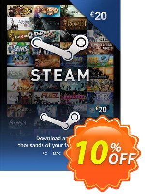 Steam Wallet Top-up £20 GBP 優惠券,折扣碼 Steam Wallet Top-up £20 GBP Deal,促銷代碼: Steam Wallet Top-up £20 GBP Exclusive offer for iVoicesoft