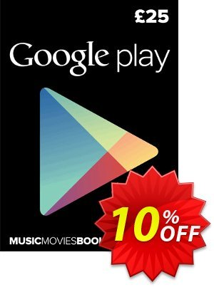 Google Play Gift Card £25 GBP 프로모션 코드 Google Play Gift Card £25 GBP Deal 프로모션: Google Play Gift Card £25 GBP Exclusive offer for iVoicesoft