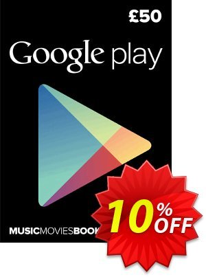 Google Play Gift Card £50 GBP discount coupon Google Play Gift Card £50 GBP Deal - Google Play Gift Card £50 GBP Exclusive offer for iVoicesoft