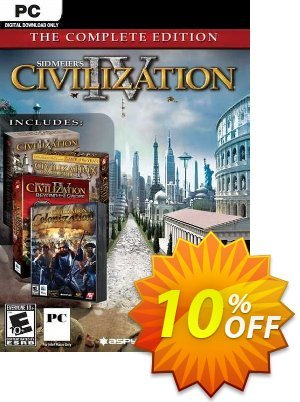 Sid Meier's Civilization IV 4: The Complete Edition PC Coupon, discount Sid Meier's Civilization IV 4: The Complete Edition PC Deal. Promotion: Sid Meier's Civilization IV 4: The Complete Edition PC Exclusive offer for iVoicesoft