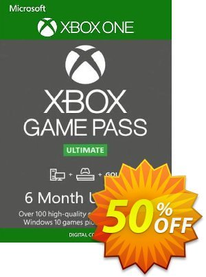 6 Month Xbox Game Pass Ultimate Xbox One / PC BRAZIL Coupon discount 6 Month Xbox Game Pass Ultimate Xbox One / PC BRAZIL Deal. Promotion: 6 Month Xbox Game Pass Ultimate Xbox One / PC BRAZIL Exclusive offer for iVoicesoft