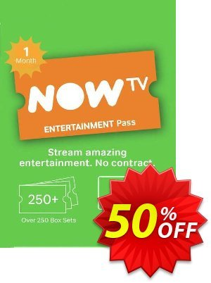 NOW TV - 1 Month Entertainment Pass discount coupon NOW TV - 1 Month Entertainment Pass Deal - NOW TV - 1 Month Entertainment Pass Exclusive offer for iVoicesoft