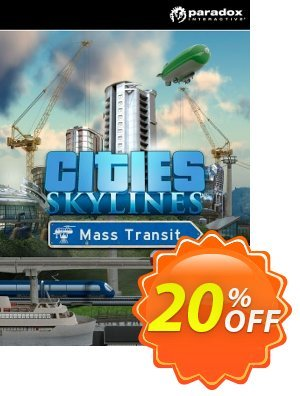 Cities: Skylines PC - Mass Transit DLC Coupon, discount Cities: Skylines PC - Mass Transit DLC Deal. Promotion: Cities: Skylines PC - Mass Transit DLC Exclusive offer for iVoicesoft