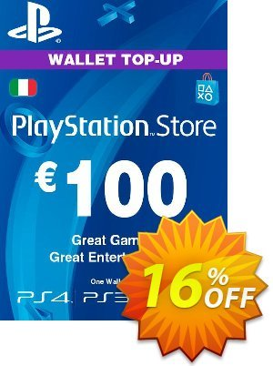 Playstation Network (PSN) Card - 100 EUR (Italy) discount coupon Playstation Network (PSN) Card - 100 EUR (Italy) Deal - Playstation Network (PSN) Card - 100 EUR (Italy) Exclusive offer for iVoicesoft