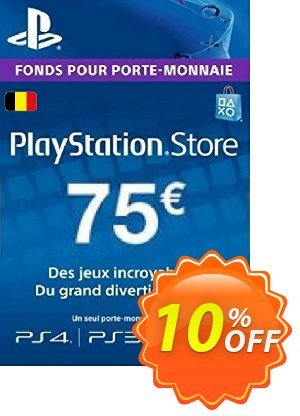 PlayStation Network (PSN) Card - 75 EUR (Belgium) Coupon discount PlayStation Network (PSN) Card - 75 EUR (Belgium) Deal. Promotion: PlayStation Network (PSN) Card - 75 EUR (Belgium) Exclusive offer for iVoicesoft