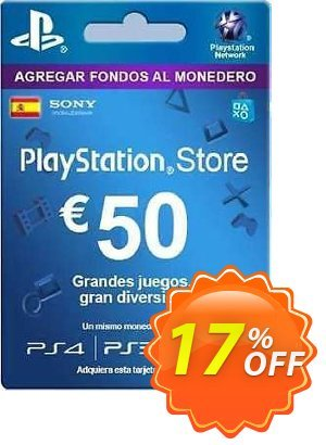 PlayStation Network (PSN) Card - 50 EUR (Spain) Coupon discount PlayStation Network (PSN) Card - 50 EUR (Spain) Deal