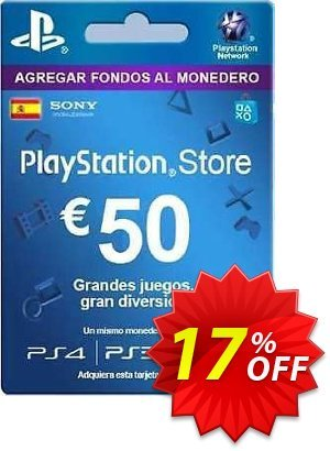 PlayStation Network (PSN) Card - 50 EUR (Spain) discount coupon PlayStation Network (PSN) Card - 50 EUR (Spain) Deal - PlayStation Network (PSN) Card - 50 EUR (Spain) Exclusive offer for iVoicesoft