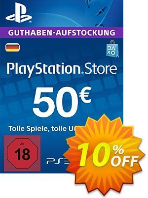 PlayStation Network (PSN) Card - 50 EUR (Germany) 프로모션 코드 PlayStation Network (PSN) Card - 50 EUR (Germany) Deal 프로모션: PlayStation Network (PSN) Card - 50 EUR (Germany) Exclusive offer for iVoicesoft