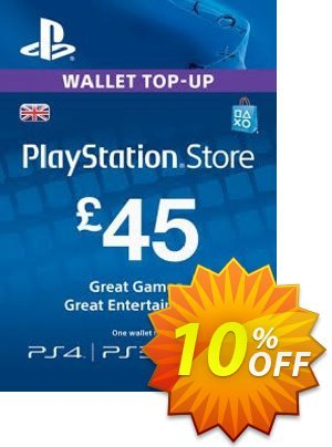 Playstation Network (PSN) Card - 45 GBP Coupon discount Playstation Network (PSN) Card - 45 GBP Deal. Promotion: Playstation Network (PSN) Card - 45 GBP Exclusive offer for iVoicesoft