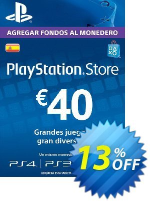 PlayStation Network (PSN) Card - 40 EUR (Spain) discount coupon PlayStation Network (PSN) Card - 40 EUR (Spain) Deal - PlayStation Network (PSN) Card - 40 EUR (Spain) Exclusive offer for iVoicesoft