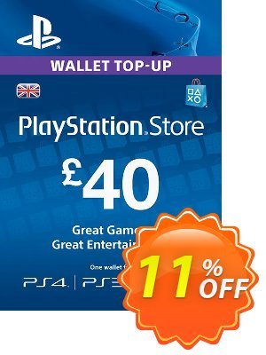 Playstation Network Card - £40 (PS Vita/PS3/PS4) Coupon, discount Playstation Network Card - £40 (PS Vita/PS3/PS4) Deal. Promotion: Playstation Network Card - £40 (PS Vita/PS3/PS4) Exclusive offer for iVoicesoft