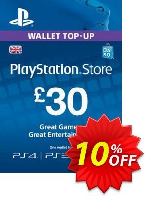 Playstation Network (PSN) Card - 30 GBP 프로모션 코드 Playstation Network (PSN) Card - 30 GBP Deal 프로모션: Playstation Network (PSN) Card - 30 GBP Exclusive offer for iVoicesoft