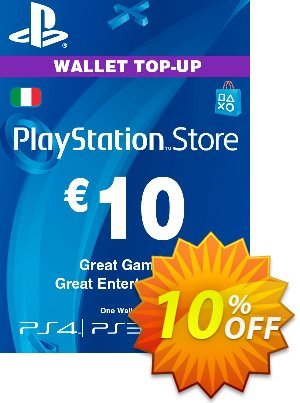 Playstation Network (PSN) Card - 10 EUR (Italy) Coupon discount Playstation Network (PSN) Card - 10 EUR (Italy) Deal. Promotion: Playstation Network (PSN) Card - 10 EUR (Italy) Exclusive offer for iVoicesoft