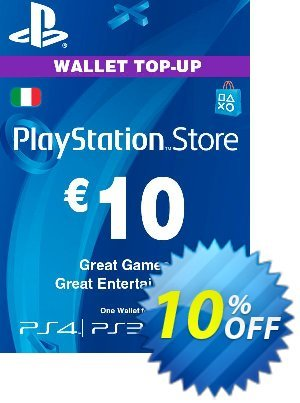 Playstation Network (PSN) Card - 10 EUR (Italy) discount coupon Playstation Network (PSN) Card - 10 EUR (Italy) Deal - Playstation Network (PSN) Card - 10 EUR (Italy) Exclusive offer for iVoicesoft