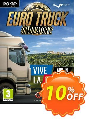 Euro Truck Simulator 2 PC - Vive la France DLC Coupon, discount Euro Truck Simulator 2 PC - Vive la France DLC Deal. Promotion: Euro Truck Simulator 2 PC - Vive la France DLC Exclusive offer for iVoicesoft