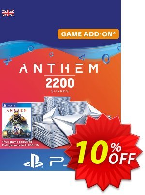 Anthem 2200 Shards PS4 (UK) discount coupon Anthem 2200 Shards PS4 (UK) Deal - Anthem 2200 Shards PS4 (UK) Exclusive offer for iVoicesoft