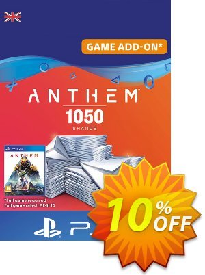 Anthem 1050 Shards PS4 (UK) discount coupon Anthem 1050 Shards PS4 (UK) Deal - Anthem 1050 Shards PS4 (UK) Exclusive offer for iVoicesoft