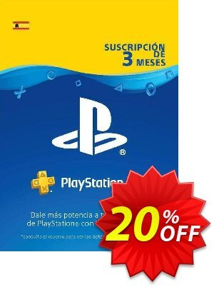 PlayStation Plus (PS+) - 3 Month Subscription (Spain) discount coupon PlayStation Plus (PS+) - 3 Month Subscription (Spain) Deal - PlayStation Plus (PS+) - 3 Month Subscription (Spain) Exclusive offer for iVoicesoft