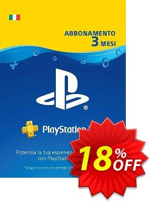 PlayStation Plus (PS+) - 3 Month Subscription (Italy) discount coupon PlayStation Plus (PS+) - 3 Month Subscription (Italy) Deal - PlayStation Plus (PS+) - 3 Month Subscription (Italy) Exclusive offer for iVoicesoft