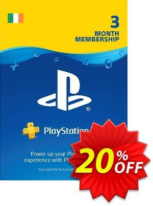 PlayStation Plus - 3 Month Subscription (Ireland) discount coupon PlayStation Plus - 3 Month Subscription (Ireland) Deal - PlayStation Plus - 3 Month Subscription (Ireland) Exclusive offer for iVoicesoft
