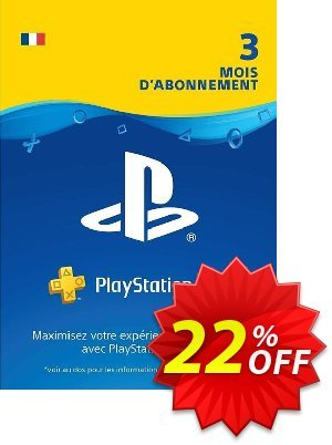 PlayStation Plus (PS+) - 3 Month Subscription (France) Coupon, discount PlayStation Plus (PS+) - 3 Month Subscription (France) Deal. Promotion: PlayStation Plus (PS+) - 3 Month Subscription (France) Exclusive offer for iVoicesoft