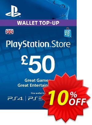 Playstation Network (PSN) Card - £50 (UK) Coupon, discount Playstation Network (PSN) Card - £50 (UK) Deal. Promotion: Playstation Network (PSN) Card - £50 (UK) Exclusive offer for iVoicesoft