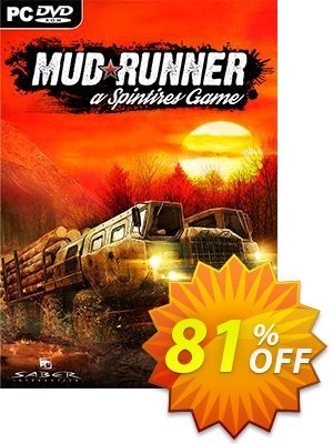 Spintires MudRunner PC Coupon, discount Spintires MudRunner PC Deal. Promotion: Spintires MudRunner PC Exclusive offer for iVoicesoft