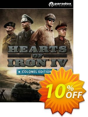 Hearts of Iron IV 4 Colonel Edition PC 프로모션 코드 Hearts of Iron IV 4 Colonel Edition PC Deal 프로모션: Hearts of Iron IV 4 Colonel Edition PC Exclusive offer for iVoicesoft