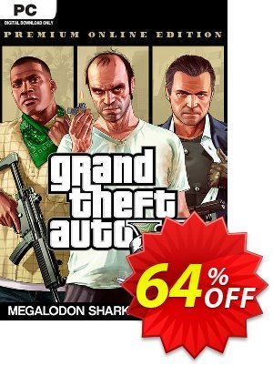 Grand Theft Auto V: Premium Online Edition & Megalodon Shark Card Bundle PC discount coupon Grand Theft Auto V: Premium Online Edition & Megalodon Shark Card Bundle PC Deal - Grand Theft Auto V: Premium Online Edition & Megalodon Shark Card Bundle PC Exclusive offer for iVoicesoft