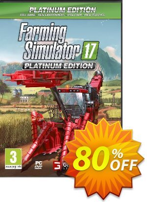 Farming Simulator 17 Platinum Edition PC Coupon discount Farming Simulator 17 Platinum Edition PC Deal. Promotion: Farming Simulator 17 Platinum Edition PC Exclusive offer for iVoicesoft