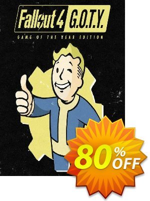 Fallout 4: Game of the Year Edition PC Coupon, discount Fallout 4: Game of the Year Edition PC Deal. Promotion: Fallout 4: Game of the Year Edition PC Exclusive offer for iVoicesoft