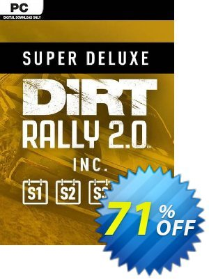 Dirt Rally 2.0 - Super Deluxe Edition PC Coupon, discount Dirt Rally 2.0 - Super Deluxe Edition PC Deal. Promotion: Dirt Rally 2.0 - Super Deluxe Edition PC Exclusive offer for iVoicesoft