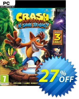 Crash Bandicoot N. Sane Trilogy PC Coupon, discount Crash Bandicoot N. Sane Trilogy PC Deal. Promotion: Crash Bandicoot N. Sane Trilogy PC Exclusive offer for iVoicesoft