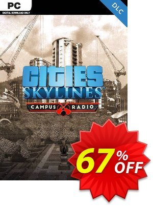 Cities Skylines PC - Campus Rock Radio DLC Coupon discount Cities Skylines PC - Campus Rock Radio DLC Deal. Promotion: Cities Skylines PC - Campus Rock Radio DLC Exclusive offer for iVoicesoft