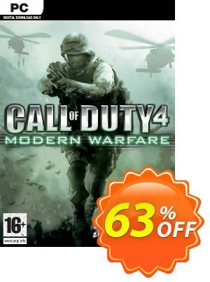 Call of Duty 4 (COD): Modern Warfare PC Coupon discount Call of Duty 4 (COD): Modern Warfare PC Deal. Promotion: Call of Duty 4 (COD): Modern Warfare PC Exclusive offer for iVoicesoft