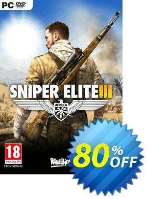 Sniper Elite 3 Afrika PC Coupon, discount Sniper Elite 3 Afrika PC Deal. Promotion: Sniper Elite 3 Afrika PC Exclusive offer for iVoicesoft