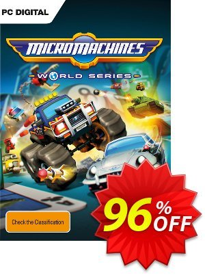 Micro Machines World Series PC Coupon discount Micro Machines World Series PC Deal. Promotion: Micro Machines World Series PC Exclusive Easter Sale offer for iVoicesoft