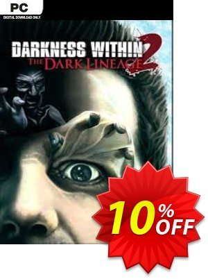 Darkness Within 2 The Dark Lineage PC Coupon discount Darkness Within 2 The Dark Lineage PC Deal. Promotion: Darkness Within 2 The Dark Lineage PC Exclusive Easter Sale offer for iVoicesoft