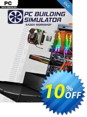 PC Building Simulator - Razer Workshop DLC Coupon discount PC Building Simulator - Razer Workshop DLC Deal. Promotion: PC Building Simulator - Razer Workshop DLC Exclusive Easter Sale offer for iVoicesoft