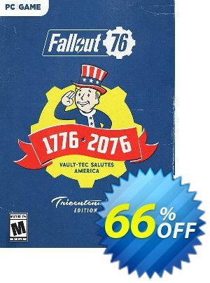 Fallout 76 Tricentennial Edition PC (EMEA) Coupon, discount Fallout 76 Tricentennial Edition PC (EMEA) Deal. Promotion: Fallout 76 Tricentennial Edition PC (EMEA) Exclusive offer for iVoicesoft
