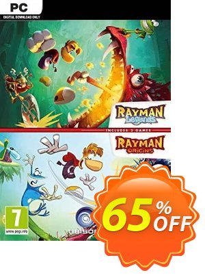 Rayman Legends + Rayman Origins PC 優惠券,折扣碼 Rayman Legends + Rayman Origins PC Deal,促銷代碼: Rayman Legends + Rayman Origins PC Exclusive Easter Sale offer for iVoicesoft